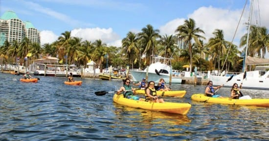 Kayaking in Miami